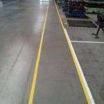 Közlekedési útvonalak jelölése targoncázható biztonsági festékkel